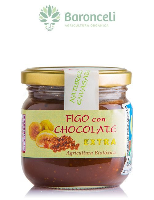 Mermelada de higo con chocolate.