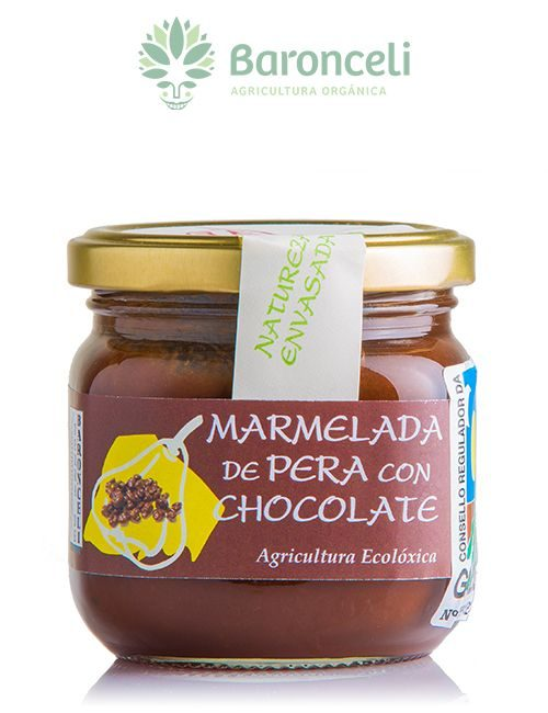 Mermelada de pera con chocolate